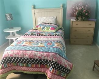 Cute girls twin bed.