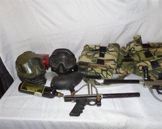 paintball guns & gear