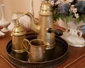 Indian gold plated coffee set