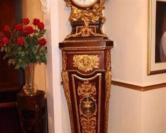 Beautiful Great Neck Apartment and contents are available for viewing and sale. Pictured here is a French Grandfather Clock