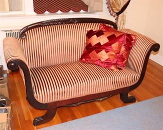 Striped Settee and Accent Pillows