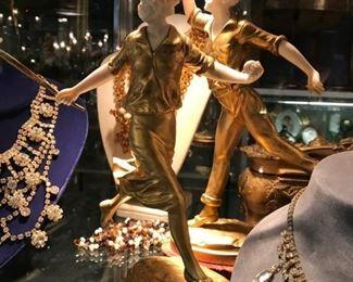 Georges Omerth  bronze dore sculptures