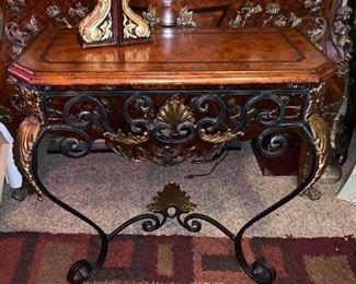 $165  Maitland Smith Bronze Iron Wall Mount Table