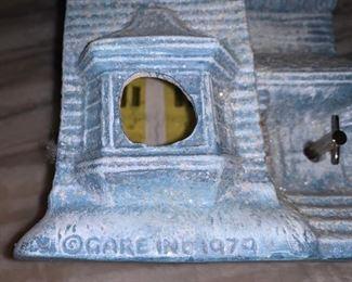 Very rare large Gare Inc Wind up Musical Ceramic Village  $80
