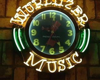 Neon Wurlitzer clock
