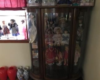 Cabinet available Sunday.  Some dolls too.