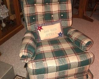 Upholstered chair - very comfy!