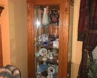 Side access curio cabinet - lots of great gift ideas here!