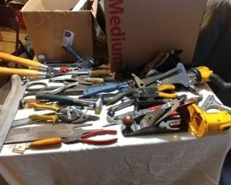 Massive Tool Lot Hammers, Files, Wrenches, Clamps, Screwdrivers, and Much More