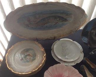 Vintage fish plates