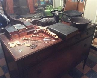 Old catholic  items. Nice old cast iron
