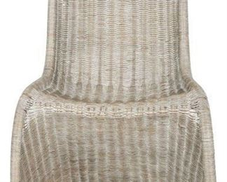 Safavieh - Set of 4 - Tana Side Chair Wicker Antique Grey Rattan NC Coating