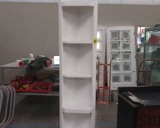 95 In. Tall White Corner Shelf