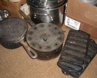 We have several pieces of heavy old cast iron