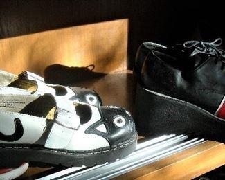 Avant garde' platform shoes.  Too cool!