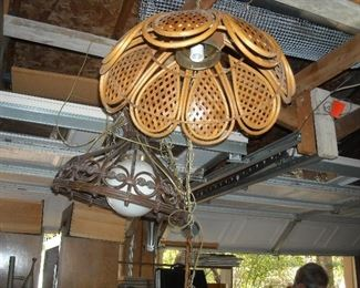 Remember these?  Hanging lamps are back!