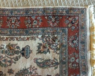 4x6 INDO KASHAN HAND KNOTTED ORIENTAL RUG
