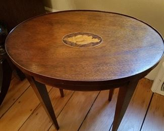 The small inlaid top Baker table