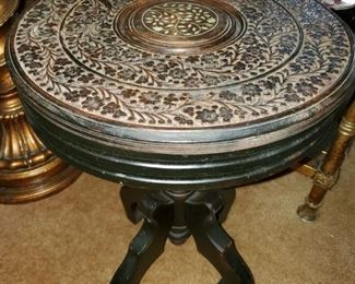 Wooden carved ethnic side table