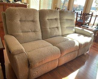 Flex steel reclining sofa