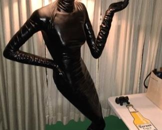 """RARE Life sized """"Lady"""" lamp. 80's GOLD!"""