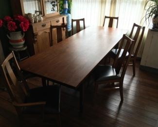 7' Walnut Jens Risom Dining/ Conference Table