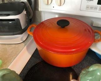 Le Creuset #26 5.5 Qt Dutch Oven Cast Iron Orange