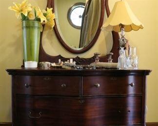 dresser with mirror 26 1/2h ( to the dresser) x 41l x 31d