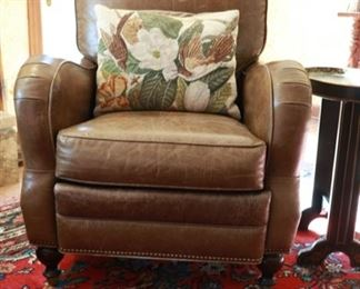 Leather recliner 32w x 32d x 39h
