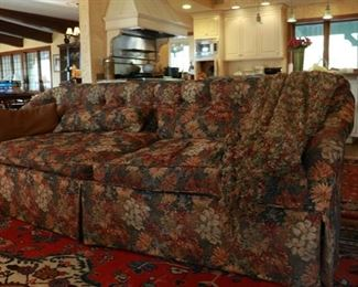 sofa with down cushions 86L x 34d x 31h