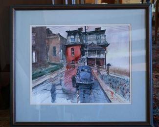 Local artist Bill Kidwell watercolor