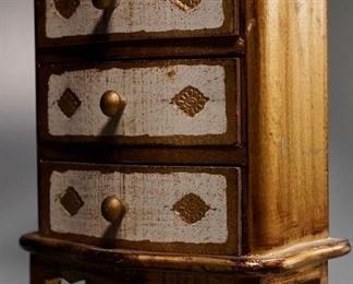 Lot 8C  Florentine Style Jewelry Chest Music Box