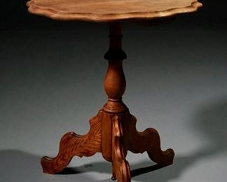 Lot 33  Carved Walnut Side Table