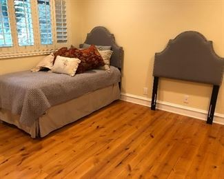 Pair of Upholstered Twin Headboards