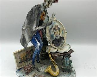 Mid Century Italian Figurine Lo Scricciolo by T Moretto