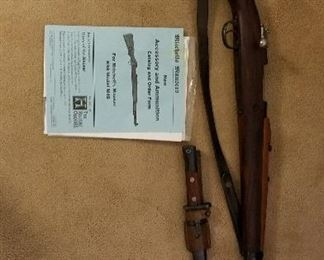 Mauser German sniper rifle with bayonet