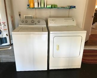 Whirlpool Washer and Kenmore Dryer