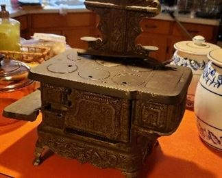 Child's size cast iron stove