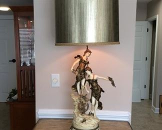 L and F Moreau Lamp