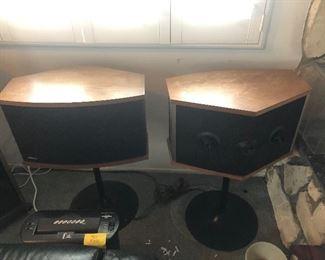 Vintage Tulip base Bose speakers