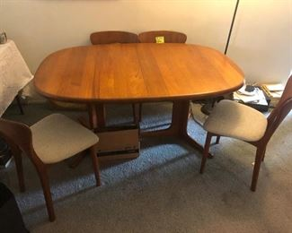 Danish modern teak dining set by Glostrup