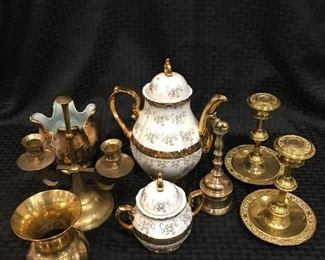 Tea Pot and Bell and Candle Sticks https://ctbids.com/#!/description/share/292006