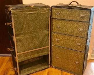 Antique Steamer Wardrobe Trunk https://ctbids.com/#!/description/share/292025