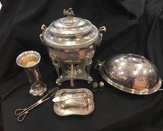 Various Silver Plated Fine Serving Items https://ctbids.com/#!/description/share/292045