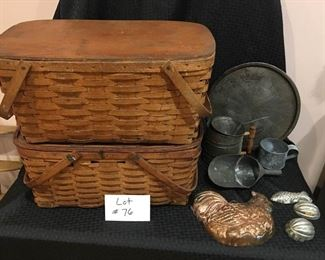 Vintage Wooden Picnic Baskets & Cookware https://ctbids.com/#!/description/share/292062