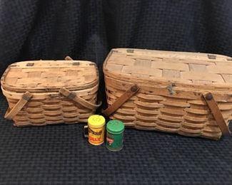 Vintage Wooden Picnic Baskets https://ctbids.com/#!/description/share/292061