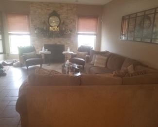 Sectional not for sale but all of the decor is