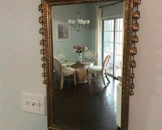 Italian Neoclassical Style Gilt Mirror.  Good condition typical cracking to composition ornament.
