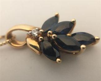 Natural Sapphire & Diamond Neckpiece https://ctbids.com/#!/description/share/291602
