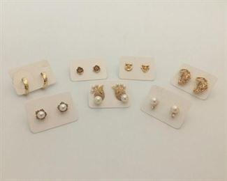 14k Earring Collection https://ctbids.com/#!/description/share/291612